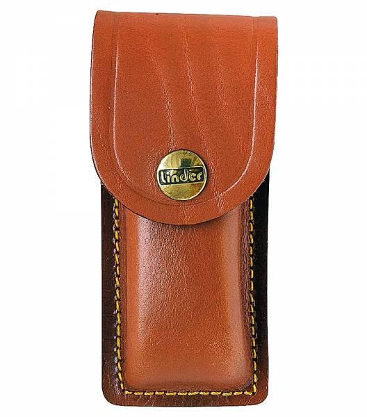 Case for pocket knife, haft length 11 cm, brown leather