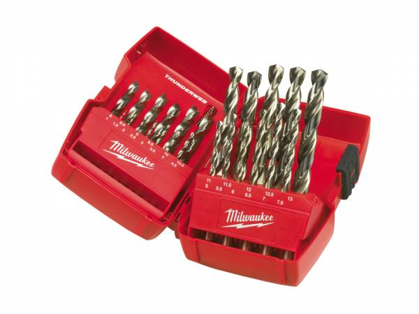 Milwaukee Metal Drill Bits HSS-G Thunderweb, tray 25 pieces