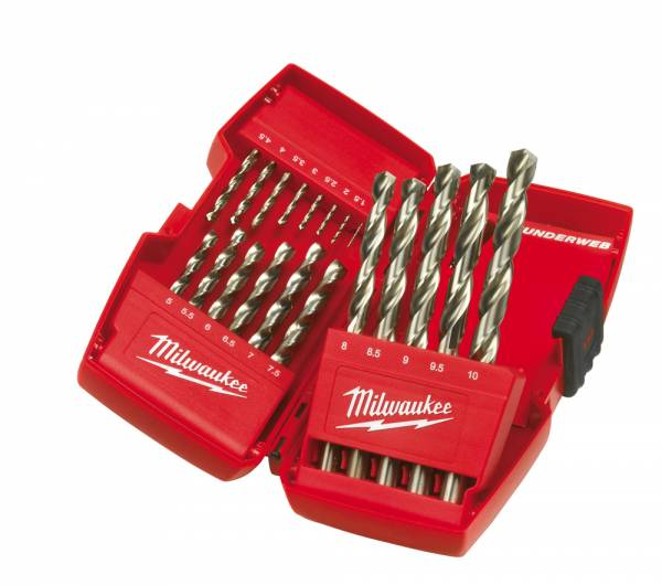 Milwaukee Metal Drill Bits HSS-G Thunderweb, cassette 19 pieces