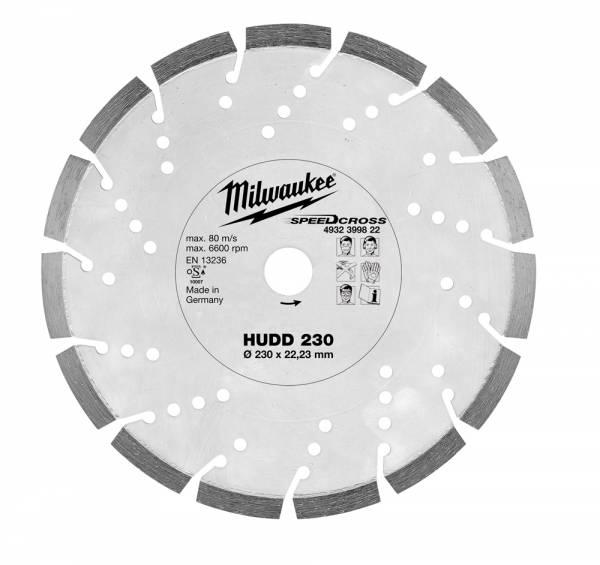 Milwaukee Diamanttrennscheibe SPEEDCROSS HUDD für sehr hartes bis mittelhartes Material