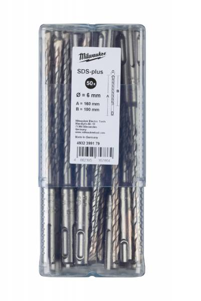 Milwaukee SDS-plus RTX4 Hammerbohrer, 50er Pack