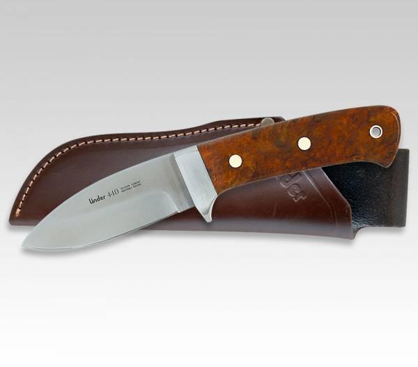 LINDER Jagdmesser mit Griff aus Amboina, Klinge 8 cm