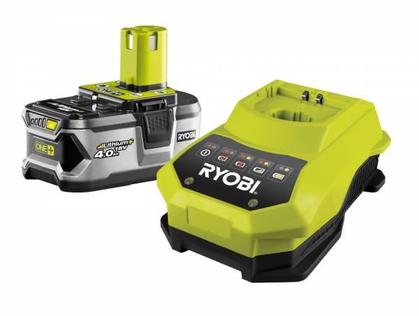 RYOBI Akku + Ladegerät RBC18L40, Starter-Set